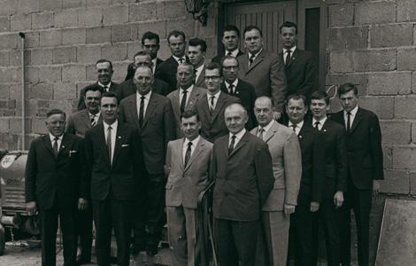 1965 – TSV-Vorstand im Jubiläumsjahr (100-jähriges Bestehen)