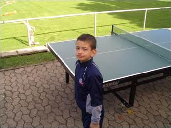 Ein kleiner Tischtennis-Fan
